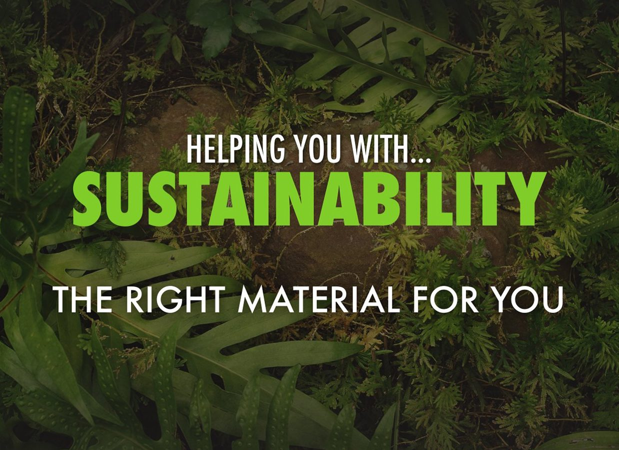 Helping you with sustainability
